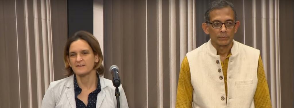 Esther Duflo and Abhijit Banerjee / Youtube