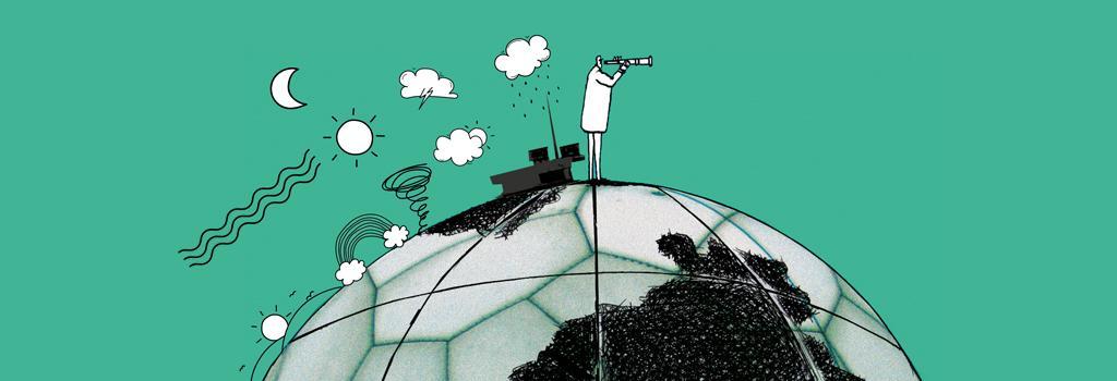 Weather means business. Illustration: Ajit Bajaj
