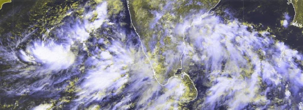 A satellite image of Peninsular India showing the Northeast Monsoon. Photo: Hrishi Jawahar @jhrishi2/Twitter