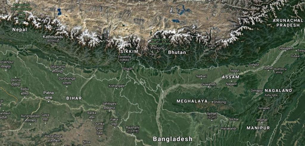 India, Nepal, Bhutan