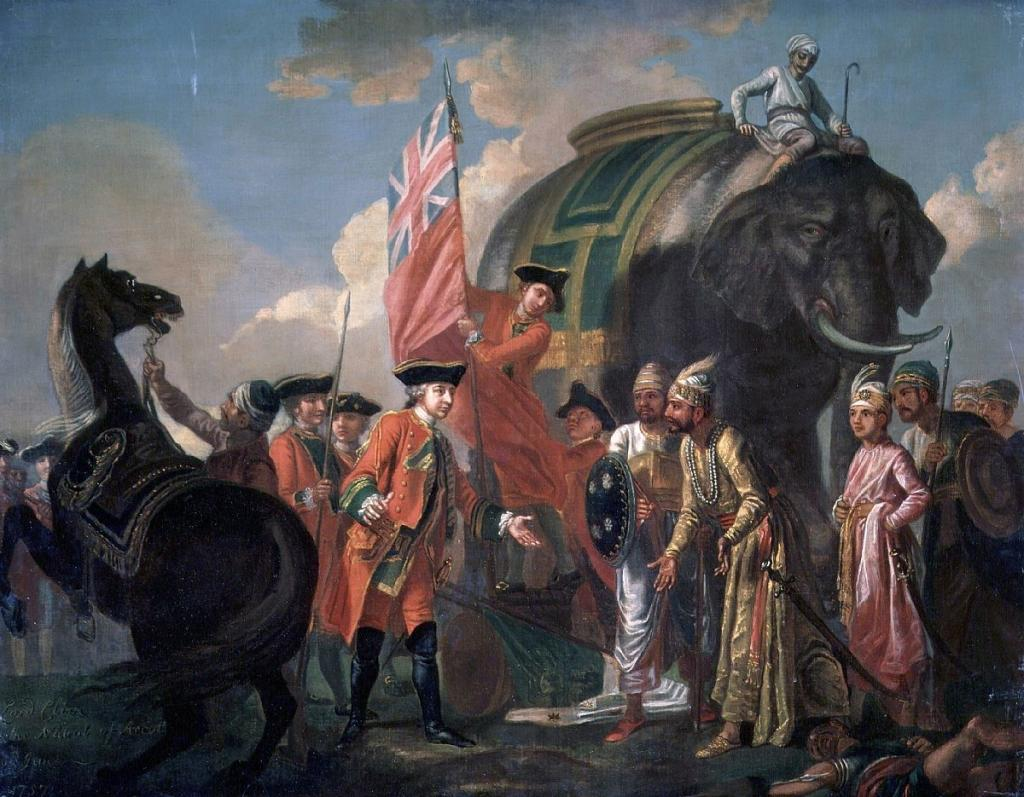 Lord Robert Clive with Mir Jafar. Photo: Wikipedia