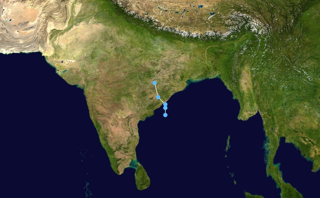 A weather map of India. Photo: Wikimedia Commons