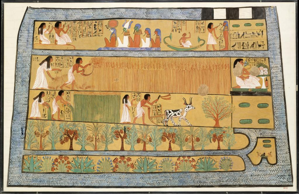 Sennedjem and Iineferti in the Fields of Iar, 1295-1213 BC. Photo: Charles K. Wilkinson/Met Museum of Art