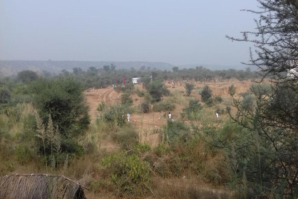 अरावली में सीआईएसएफ को दी गई जमीन। फोटो: मलिक असगर हाशमी