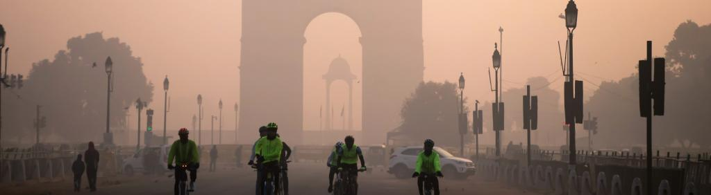 The India Gate on a winter morning. Photo: Getty Images