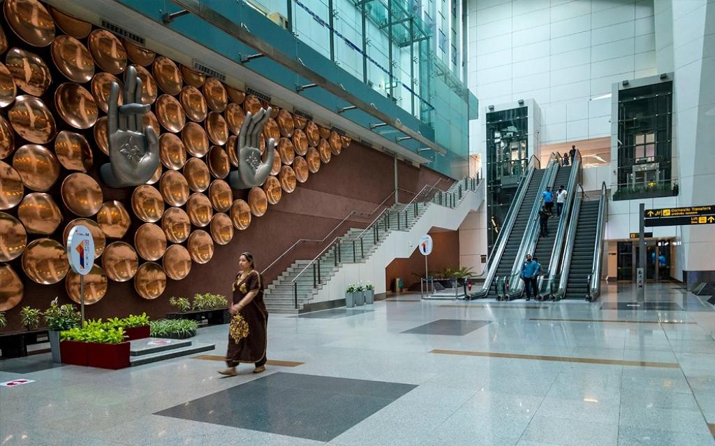 Indira Gandhi International Airport in Delhi is one of the 61 carbon neutral airports in the world. Photo: New Delhi Airport
