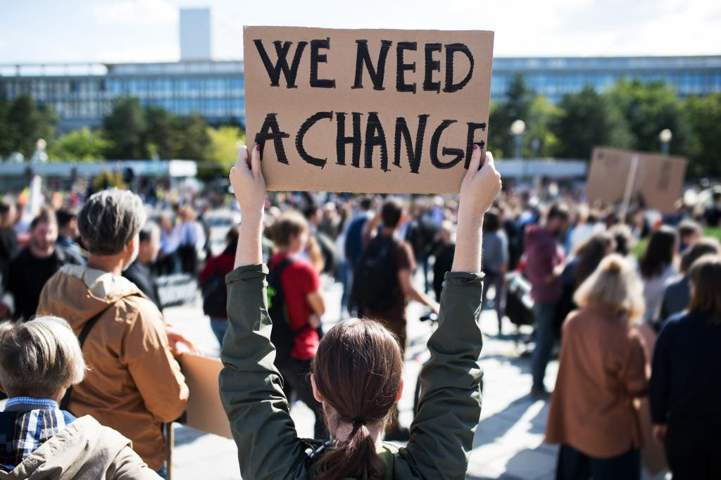 Millions of youth participated in climate strikes, negotiations, press conferences and events, demanding urgent climate action this year. Photo: Shutterstock