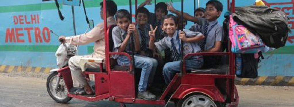 Electric rickshaw in Delhi
