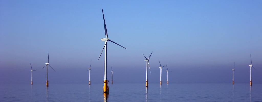An offshore wind farm. Photo: Wikimedia Commons