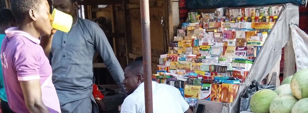 Unlicensed sale of antibiotics in Abuja. Photo: Vincent Yusuf
