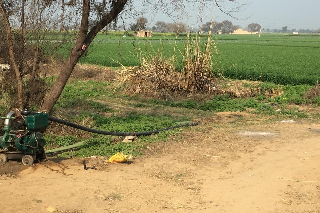 मेवात में खेतों में सिंचाई के लिए ट्यूबवेल लगे हैं, लेकिन कई जगह पानी खराब न होने के कारण ट्यूबवेल से भी सिंचाई नहीं हो पा रही है। फोटो: शाहनवाज आलम