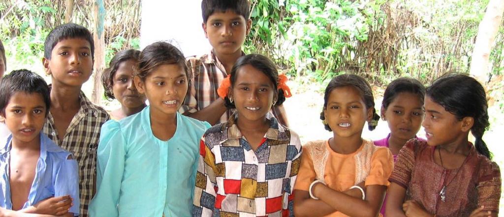 Children in India's village. Source: Flickr