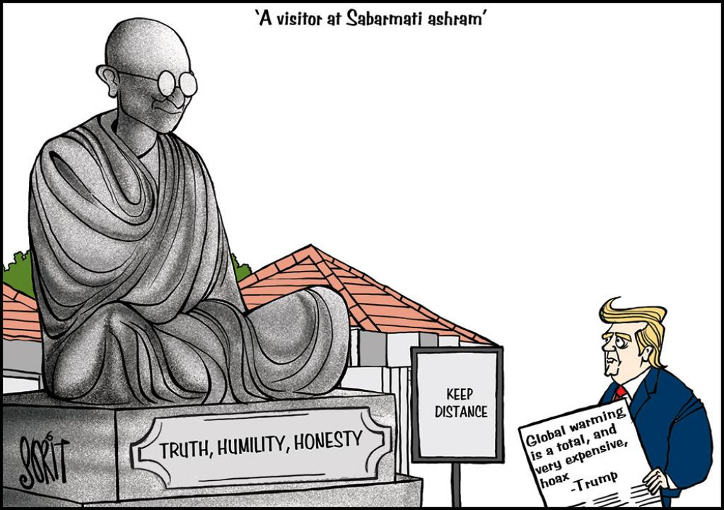 Simply Put: Gandhi, Trump & global warming
