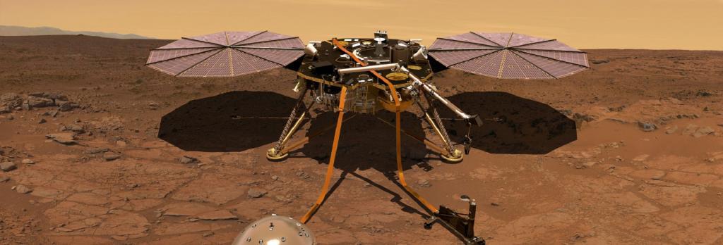 Artist's impression of Mars InSight. Photo: NASA/JPL-Caltech