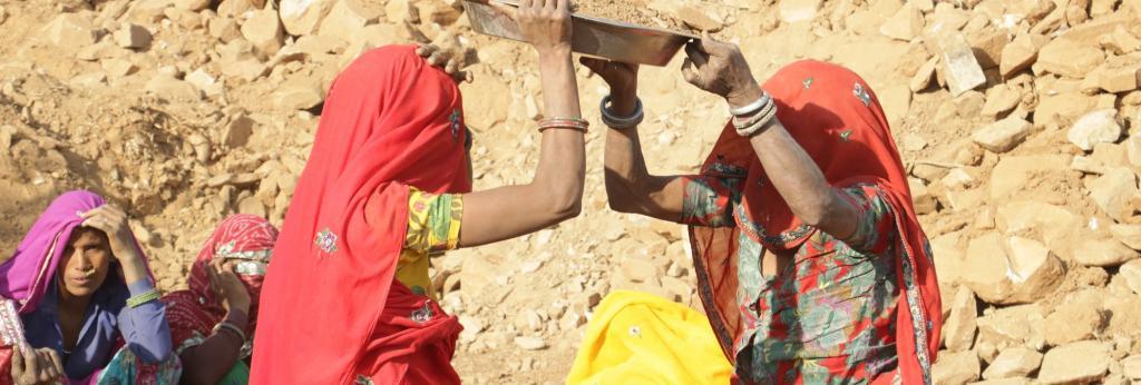 MGNREGA workers in Rajasthan. Photo: Srikant Chaudhary / CSE
