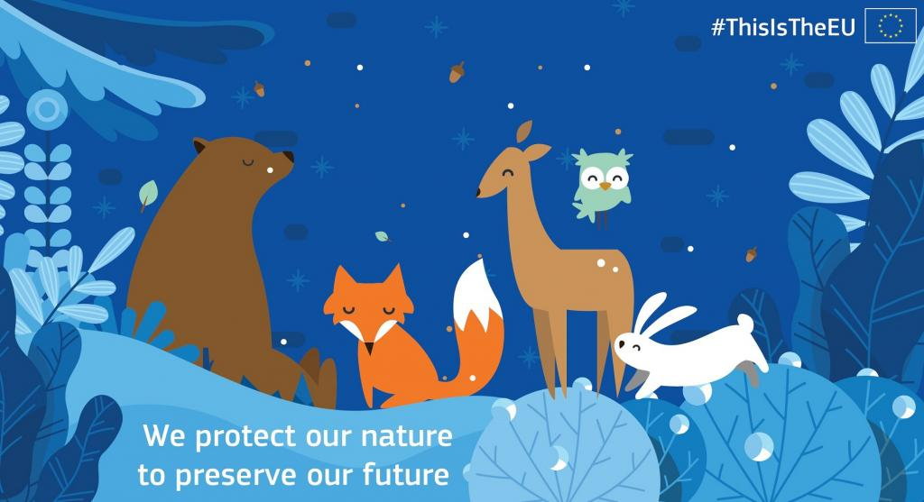 An illustration by the European Commission's Twitter handle while tweeting about the Global Coalition for Biodiversity