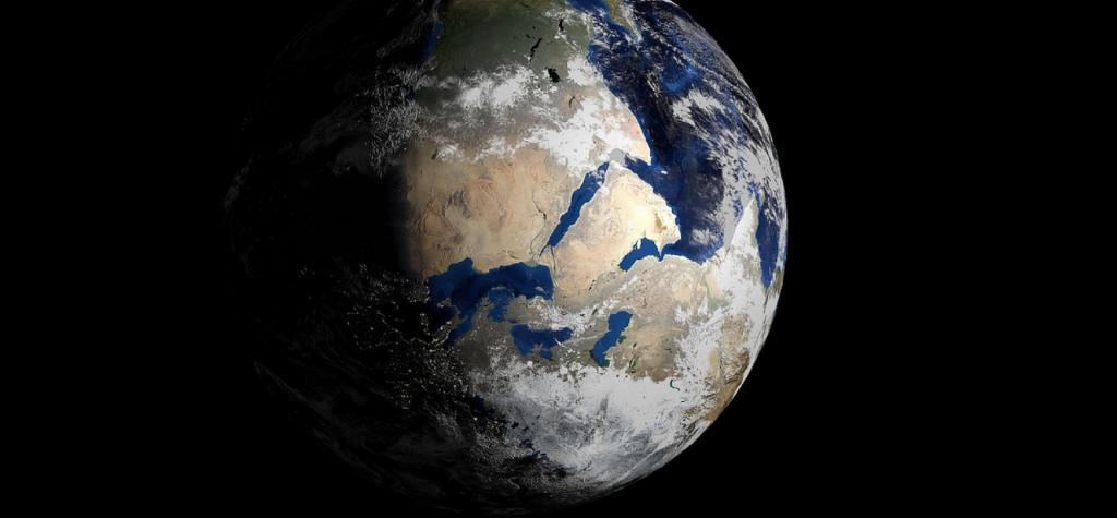 Earth may have been a water body three billion years ago. Source: Wikipedia