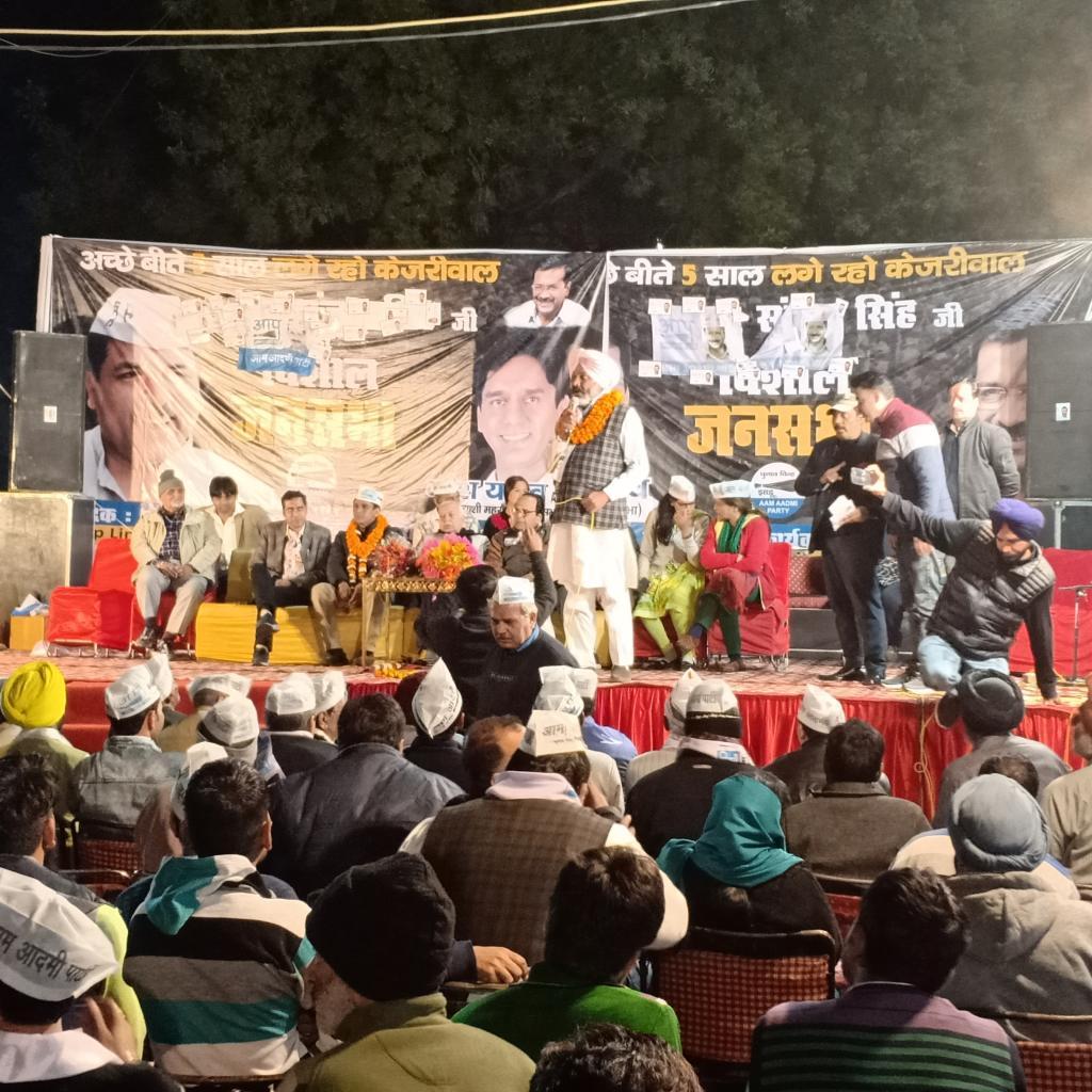 An AAP election campaign. Photo: Joyjeet Das