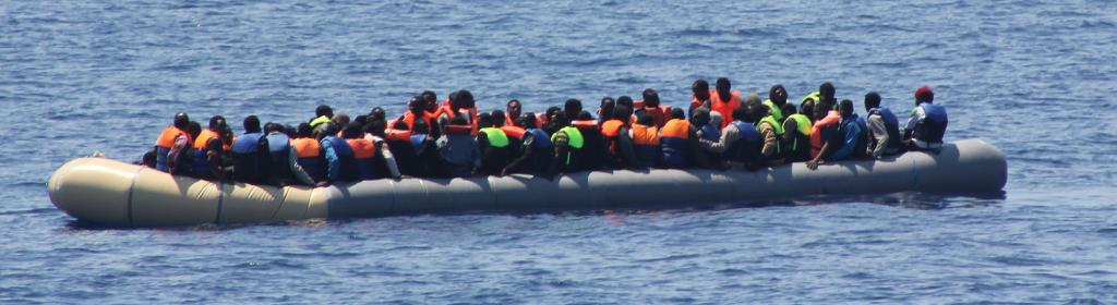 A boat full of refugees in the Mediterranean. Two of the newly added indicators are on responsible and well-managed migration policies. Photo: Flickr
