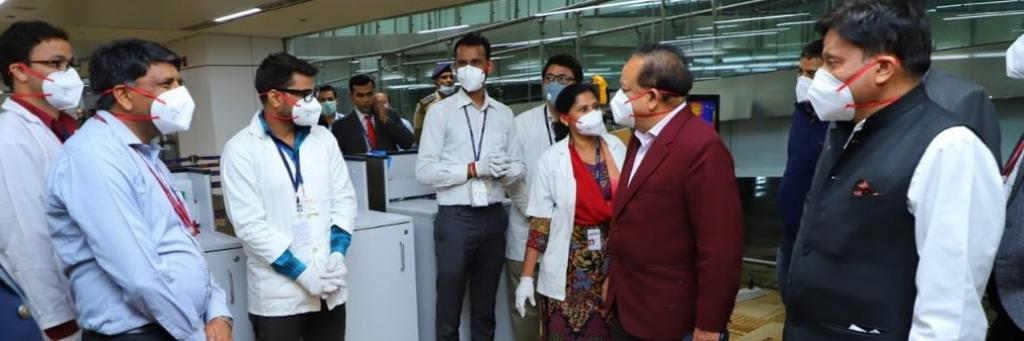 Union Health Minister Harsh Vardhan inspecting preparedness for coronavirus outbreak. Photo: Harsh Vardhan's Twitter Handle