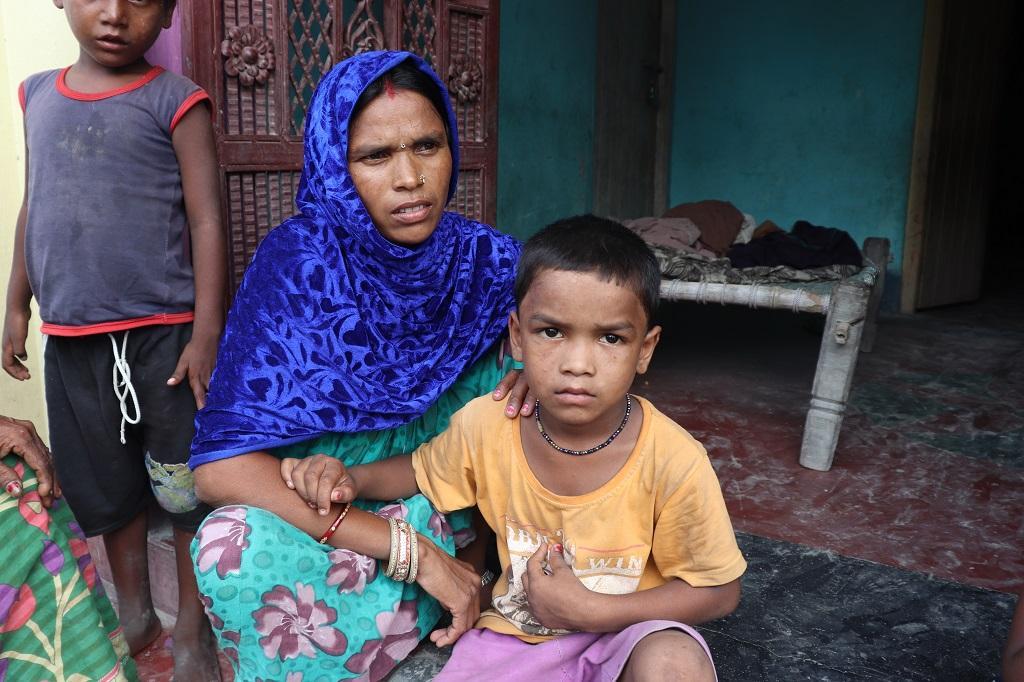 2019 में चमकी बुखार से पीड़ित हुआ था यह बच्चा। फोटो: पुष्य मित्र