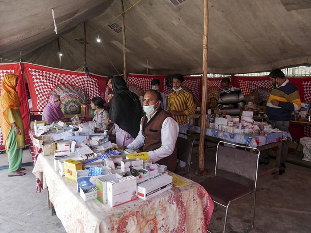 At a medical camp set up by the 'Doctors Unity Welfare Association'. It was set up on March 3, 2020. The association has been providing medical aid to affected people free of cost.