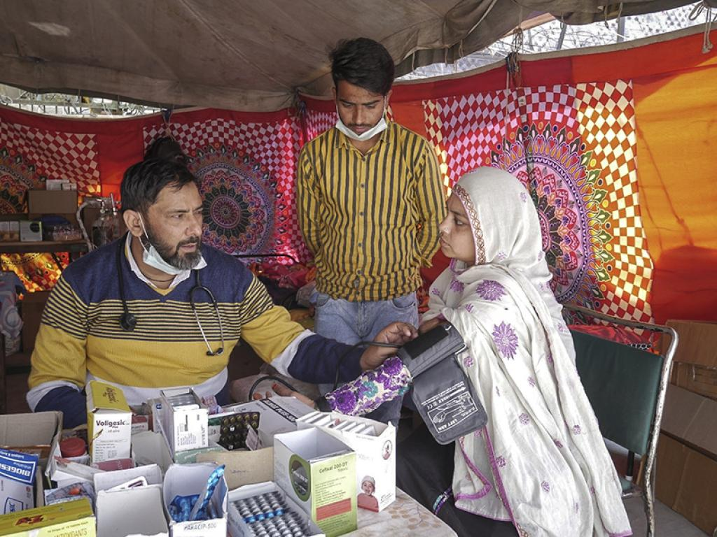 The medical camp remains open round-the-clock. The association tied up with nursing homes to look after pregnant women, and hospitals to carry out surgeries. Sanitary napkins, sanitisers, masks, gloves, etc, are distributed as per requirement.