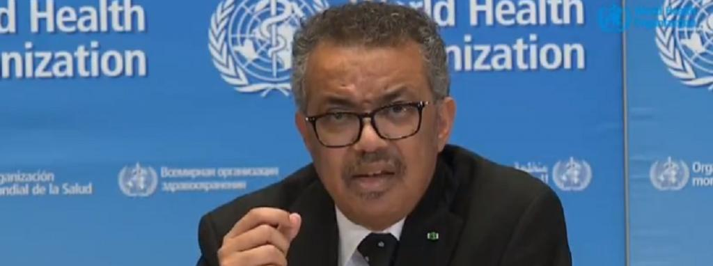 WHO Director General Tedros Ghebreyesus. Photo: Twitter