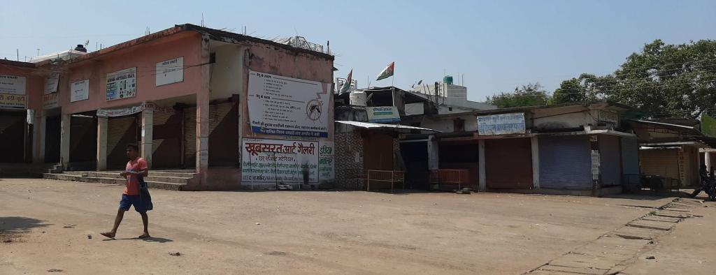 The weekly haat or market — the lifeline of the tribal economy in Dhamtari — shut down on March 22 Photo: Purushottam Thakur