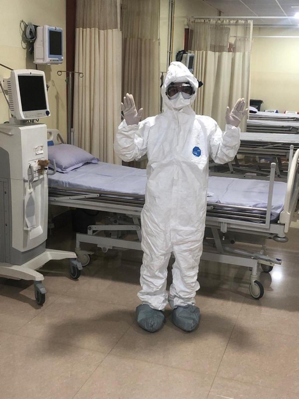 A healthcare worker in Odisha seen here wearing personal protective equipment Photo: Priya Ranjan Sahu