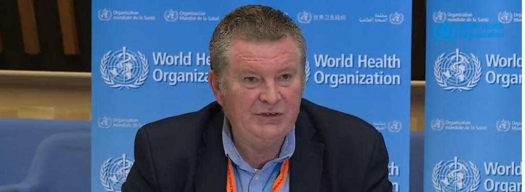 WHO's Emergency Programme Director Mike Ryan. Photo: WHO's Twitter handle