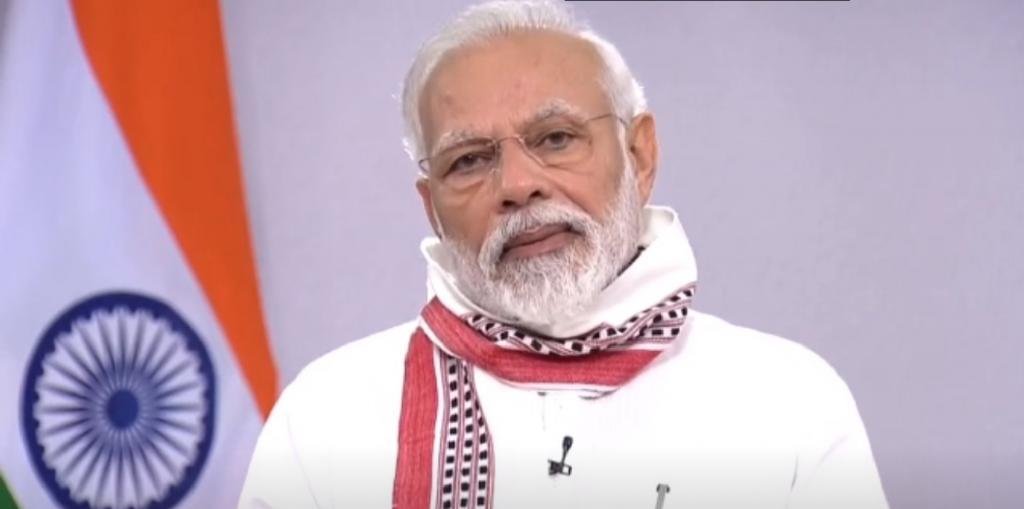 Narendra Modi address on COVID-19 lockdown on April 14, 2020. Photo: Twitter / @narendramodi