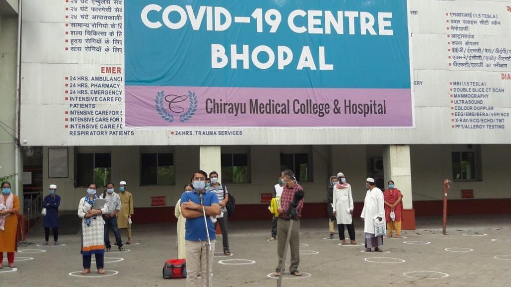 भोपाल में 18 अप्रैल को कोविद-19 के 28 मरीज स्वस्थ हुए। फोटो: मनीष चंद्र मिश्र