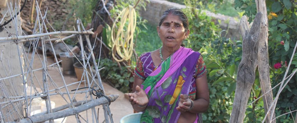 Semiya Devi Prajapati, resident of Nayagaon, was told she would be given ration only when all ration card-holders get it. Credit: Jigyasa Mishra