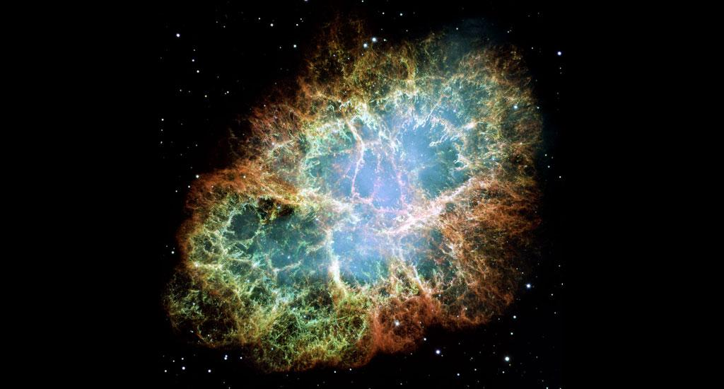 The Crab Nebula is considered to be among the most interesting and well-studied objects in astronomy, according to the Hubble telescope website. The image was assembled from 24 individual exposures from the Hubble's WFPC2 camera. It is the largest and most detailed image of the nebula that we have. Photo:  NASA, ESA and Allison Loll/Jeff Hester (Arizona State University)