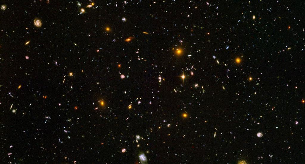 This image — known as the Hubble Ultra Deep Field — is a snapshot of nearly 10,000 galaxies, taken in 2006. Over 400 orbits around the Earth and 800 exposures in 11.3 days were needed to capture this image. The universe was just 800 million years old then, according to the Hubble telescope website. Photo: NASA, ESA, and S. Beckwith (STScI) and the HUDF Team