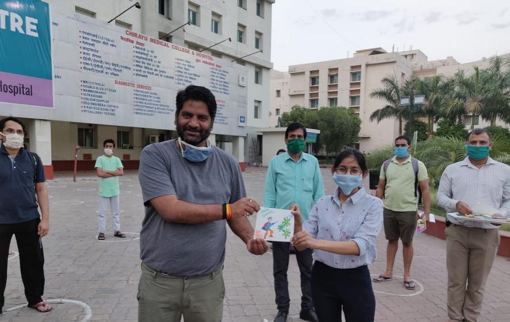 कोरोनावायरस पर जीत हासिल करने वाले भोपाल के पत्रकार जुगल किशोर शर्मा।