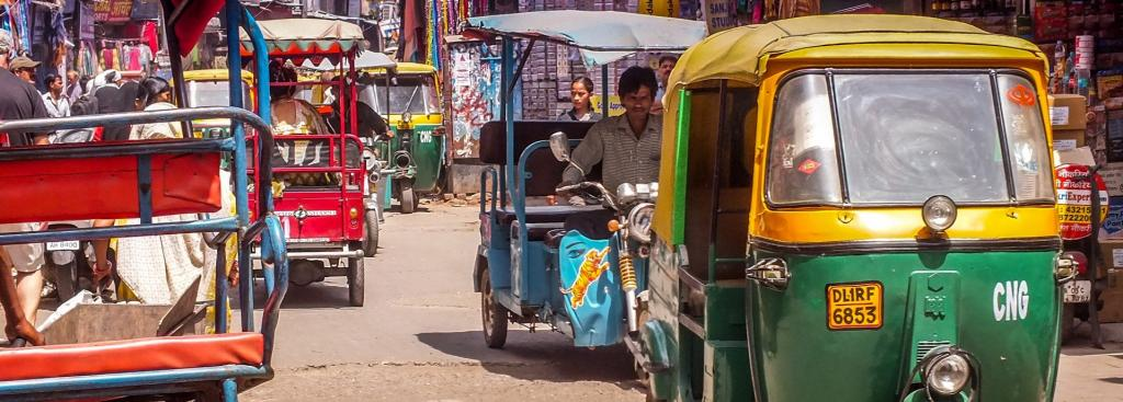 Forty per cent of trips generated in Delhi are on foot and cycling, with auxiliary transport modes — including autorickshaws, Gramin Seva vehicles and e-rickshaws Photo: Pxhere