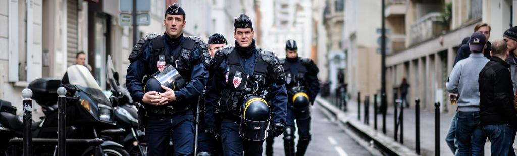 French Anti Riot Police in Paris. In France, the national human rights commission has created a new observatory to monitor the effect of lockdown measures on human rights Photo: Kristoffer Trolle/Flickr