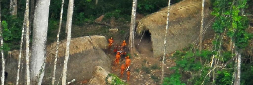 An uncontacted tribe photographed in the Brazilian state of Acre. Photo: Wikimedia Commons