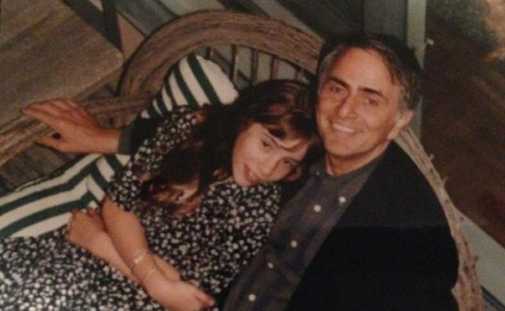Carl Sagan with daughter Sasha. Photo: Sasha Sagan and Ann Druyan