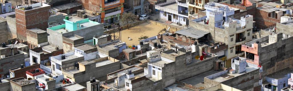 An aerial view of urban sprawl in Rajasthan capital Jaipur. Urban planning came into being as a response to public health crises Photo: Dimitry B/Flickr