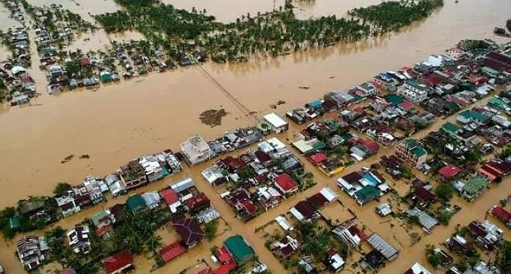 Local government officials and residents appealed for help after the landfall killed four and devastated parts of the country, according to local media reports. The municipality of Catubig in northern Samar declared a state of calamity in the aftermath of the typhoon. Aerial photos show the flooding in the area — known as northern Samar's main area for rice production. Photo: Catubig Vice Mayor Dex Galit