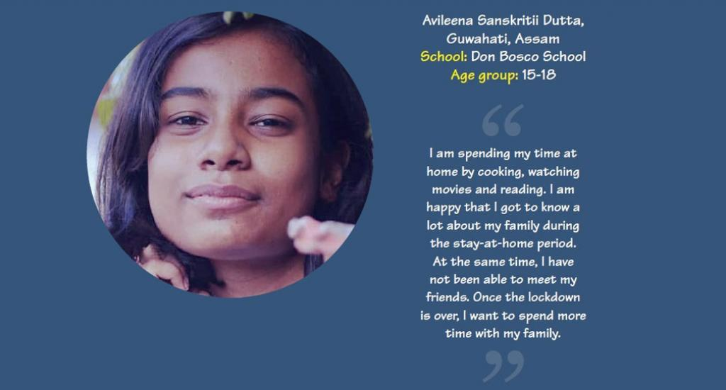 Avileena Sanskritii Dutta is student of Don Bosco School, Guwahati, Assam.