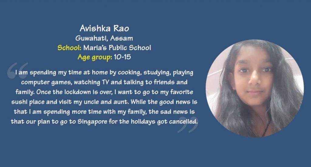 Avishka Rao is a student of Maria's public school, Guwahati, Assam.