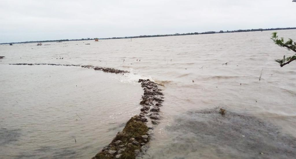 Embankments were broken in Hingalgunge, located in 24 Paraganas district, while Sagar Island was cut off from the mainland as a jetty collapsed