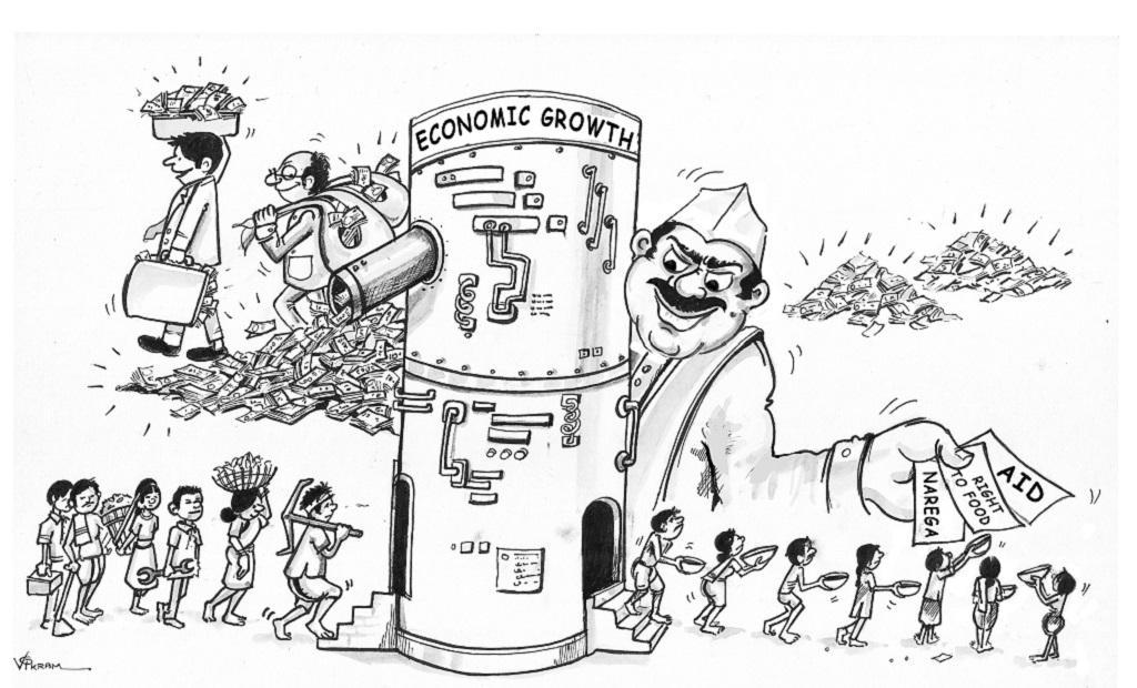 कार्टून साभार: विक्रम नायक, एकता परिषद