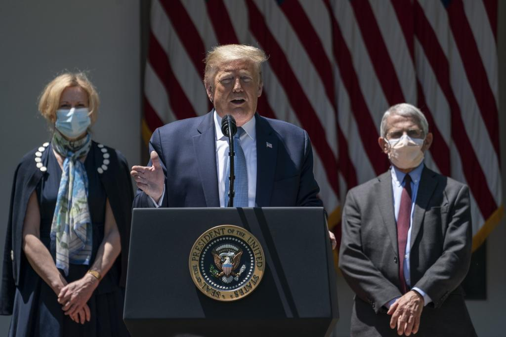 President Trump says he has been taking hydroxychloroquine as a preventive for the coronavirus. Getty Images / Drew Angerer
