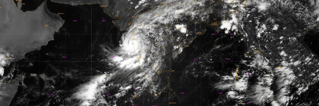 Nisarga will decrease in intensity to a cyclone from a severe cyclone in the next four hours Photo: Twitter / India Met Dept