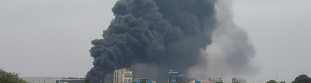 The impact of the Dahej blast was felt several kilometres away. Smoke had emerged from the factory